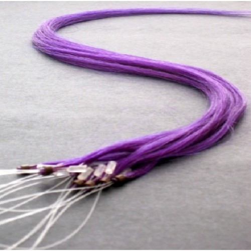 "Micro Loop Hair Extensions 20"" set of 10 Pieces (purple)"