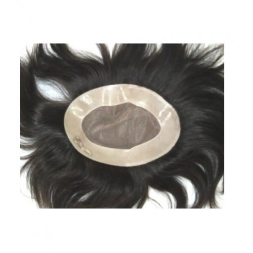 "Super Fine Monofilament Mens Toupee/ Gents Wig 7""x5"""