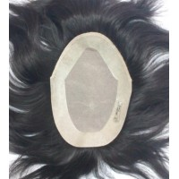 "Silk Base Mens Toupee/ Gents Wig 9""x6"""