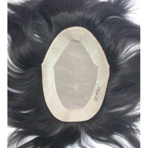 "Silk Base Mens Toupee/ Gents Wig  7""X5"""