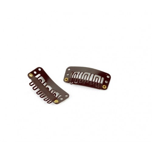 wig  Clips For Hair Extensions  & Wigs (Brown) -30 pieces/ clips